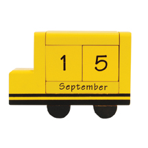 School Bus Perpetual Desk Calendars