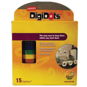 DigiDots CD and DVD Storage Dots