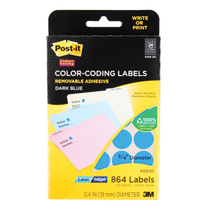Post it Write or Print Color Coding Labels