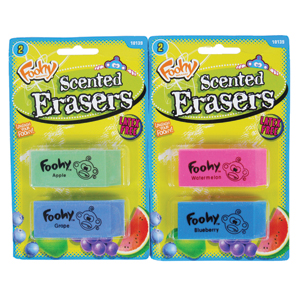 Foohy Scented Pencil Eraser Assortment
